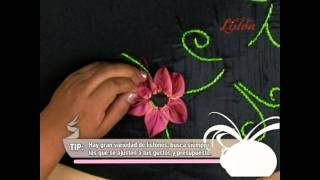 Bordado en Liston: Elegancia floral