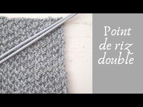 TUTO TRICOT FACILE : POINT DE RIZ DOUBLE - YouTube