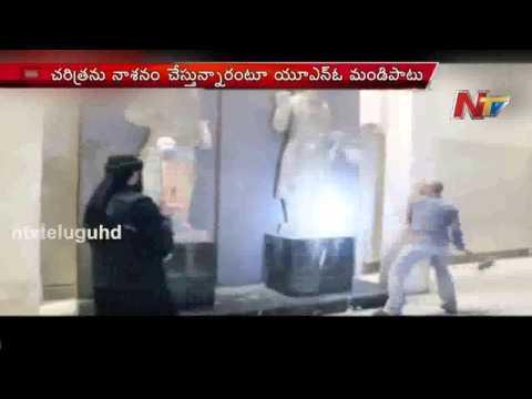 ISIS release video of militants attacking Nimrud museum, Iraq
