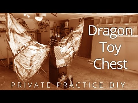 Filing Cabinet to Dragon Toy Chest - Private Practice DIY