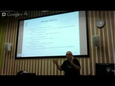 Peter Wood 13/02/13 Talk On Cloud Security, Social Networking and BYOD Sussex England