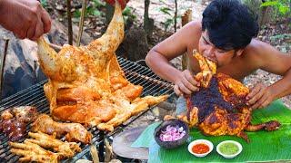 #PUNJABI#MASALA Cooking Chicken Curry BBQ Kerala Style - Cook Nadan Chicken Roasted Kerala Recipe