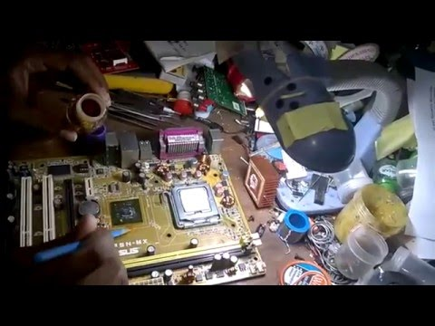how to repair  no display desktop motherboard