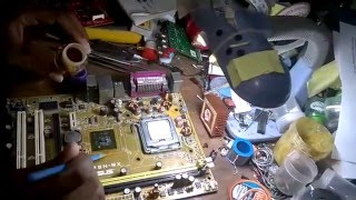 how to repair  no display desktop motherboard