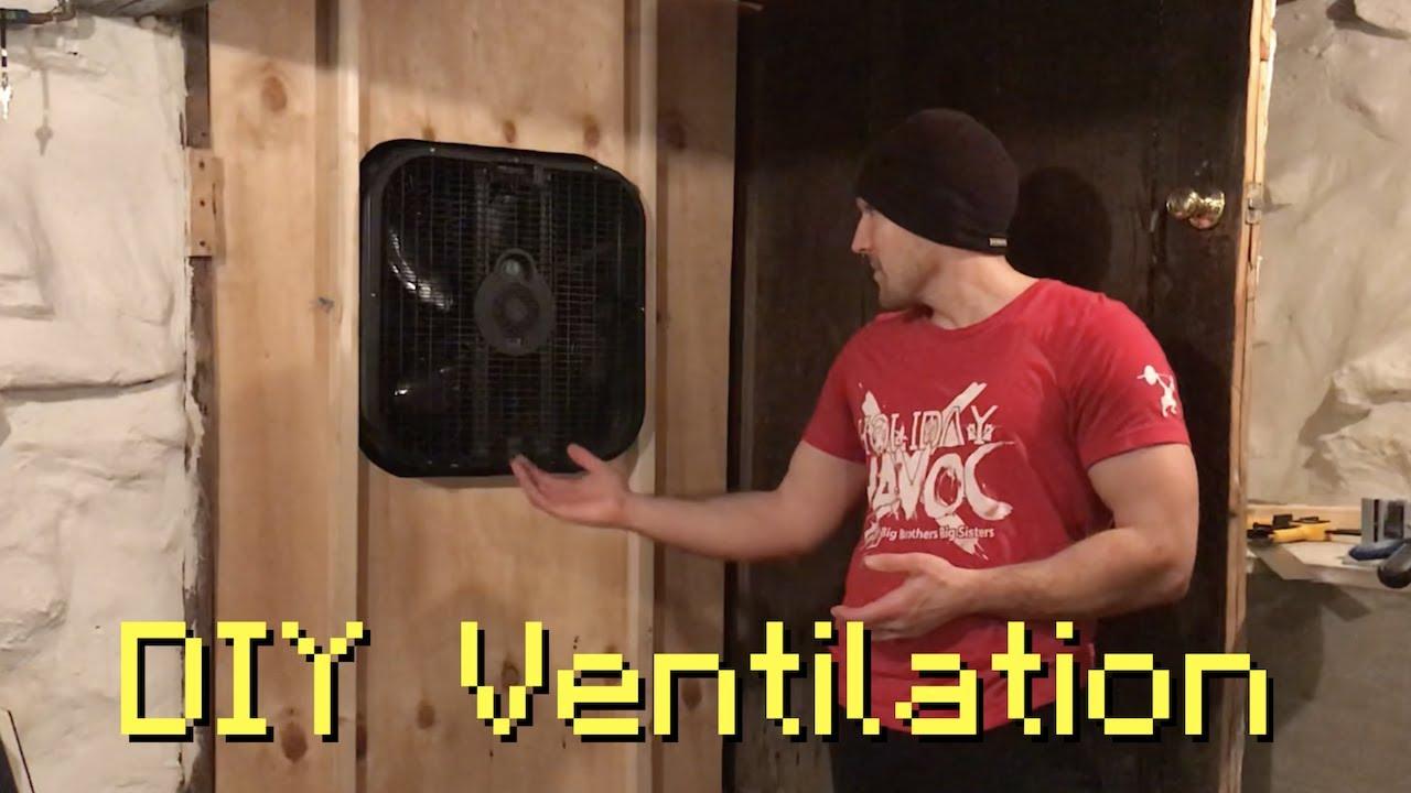 diy workshop exhaust ventilation fan for door or window