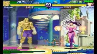 Street Fighter Alpha 3 Xiang Long (ARCADE CPS2) 1CC Sagat Walkthrough