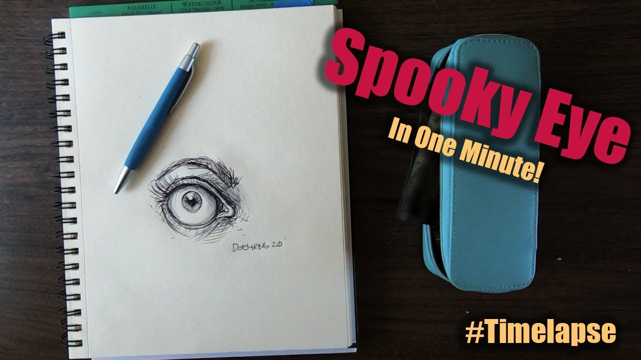 How to Draw a Spooky Eye Time-lapse | Palette Passions Studio