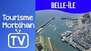 Belle Île : le port Le Palais vu du ciel | Tourisme Morbihan TV