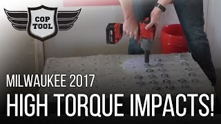 Milwaukee M18 FUEL High Torque Impacts 1,400 ft-lbs - ONE-KEY Options NPS17