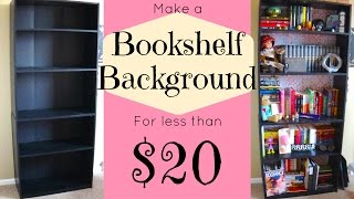How To: Bookshelf Background!
