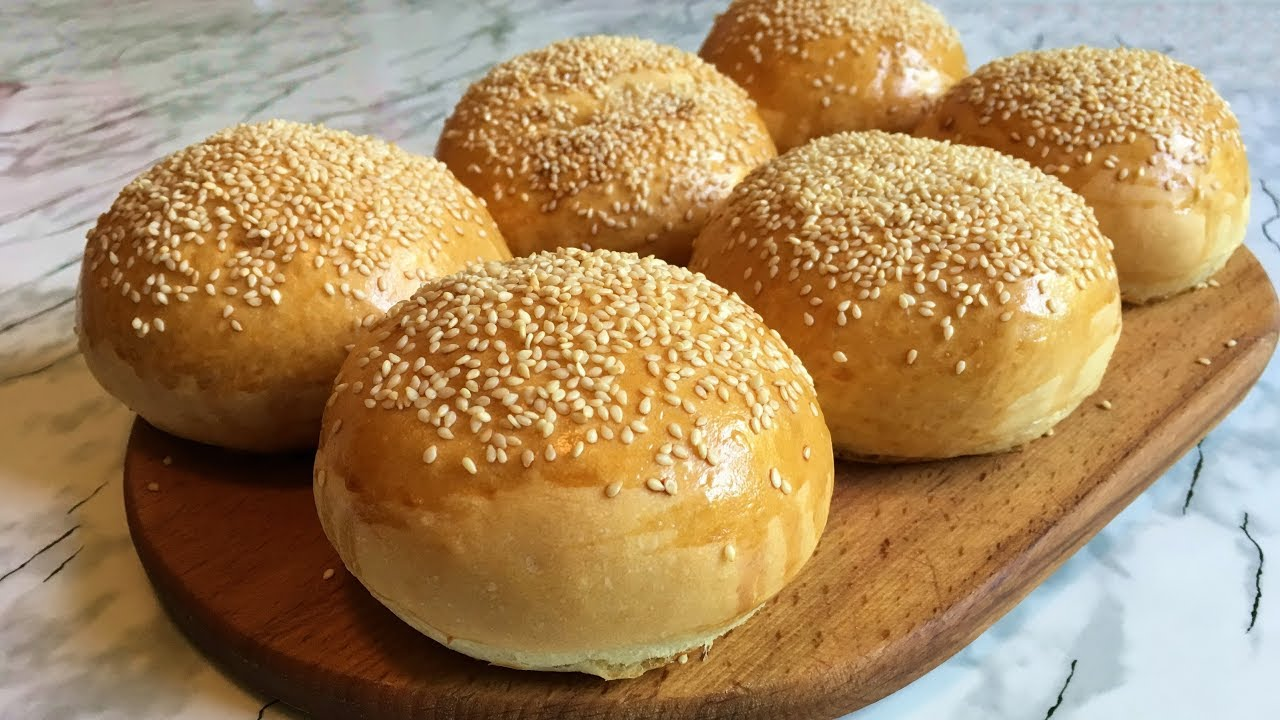 рецепт булочек для гамбургера