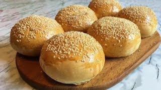 Булочки для Бургеров (Очень Вкусные)  / Burger Buns / Пошаговый Рецепт