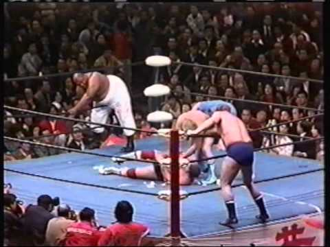 Terry Funk and Dory Funk Jr. vs. Abdullah the Butcher and The Shiek AJPW 1977