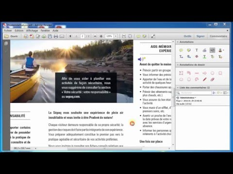 Annotation d'un PDF: ajouter un fichier audio