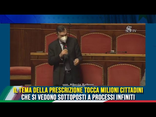L'intervento del Sen. Balboni sul DL Milleproroghe