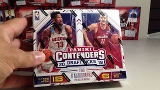 Opening Hobby Box #1 of 2018 Panini Contenders Draft Picks Basketball Cards