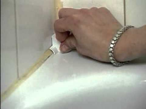 Tub Amp Wall Seal A Crack Adhesive Sealer Installation Youtube