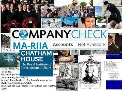 Virgin MARIIA joke & Royal Chatham Hse Frauds against the world's people