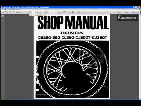 honda cb250 manual youtube rh youtube com honda cb 250 rs service manual Honda CB 400