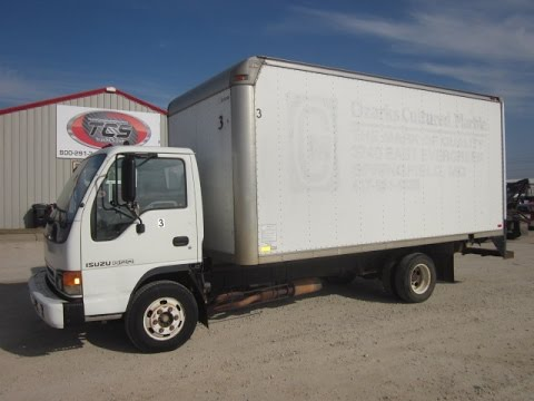 Superb 2001 Isuzu NPR Box Van Truck