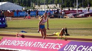 U18 ECh triple jump   Györ 8.7.18   3. Jessica Kähärä 13.29m U18 NR