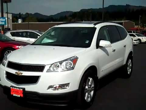 2010 chevrolet traverse awd 2lt white olympic vehicle. Black Bedroom Furniture Sets. Home Design Ideas