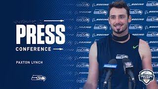 Seahawks Quarterback Paxton Lynch Training Camp Day 7 Press Conference