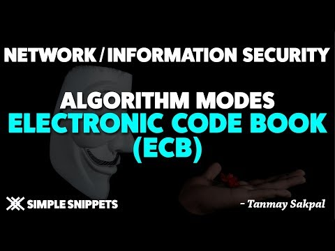 Electronic Code Book(ECB) | Algorithm Modes in Cryptography