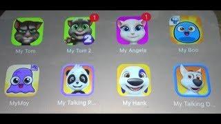 My Talking Tom Vs My Tom 2 Vs My Angela Vs My Boo Vs My Moy Vs My Panda Vs My Hank Vs My Talking Dog