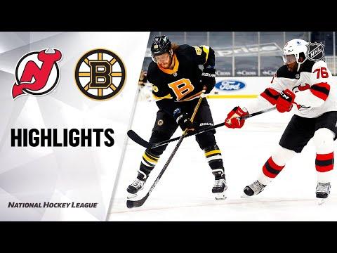 Devils @ Bruins 2/18/21 | NHL Highlights