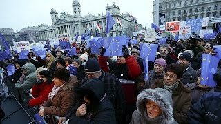 Hungarians protest against PM