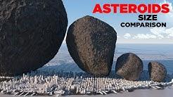 ASTEROIDS Size Comparison 🌑