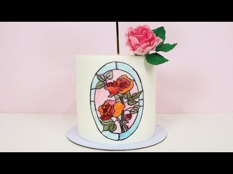 Stained Glass Cake Effect- Collaborating with Storytale Cakes