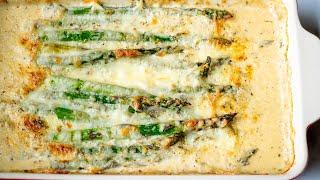 Creamy Italian Baked Asparagus