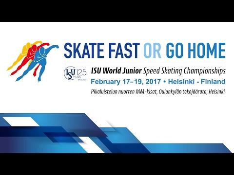 ISU World Junior Speed Skating Championships - Saturday 18.2.2017