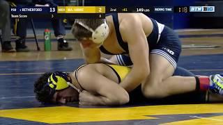 Big Ten Wrestling 2018 - 149 lbs - Penn State's Zain Retherford vs. Michigan's Malik Amine