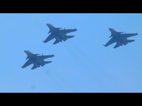 IAF Sukhoi Su-30MKI at Trivandrum airshow.