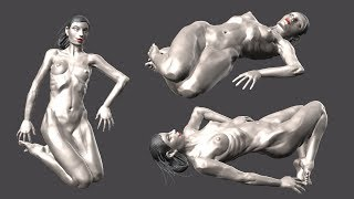 zbrush sculpting from live modele #15
