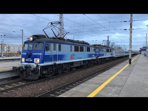 Zgrany duet EP07-384+EU07-334 z Branickim i Kiev Express na Warszawie Wschodniej.