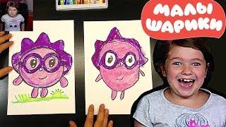 Как нарисовать Ёжика из мультика МАЛЫШАРИКИ от РыбаКит папа рисует
