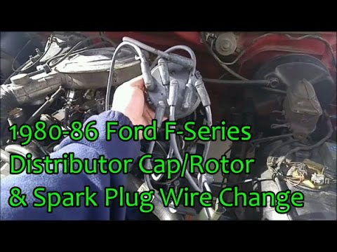 1980-86 Ford F-Series Spark Plug Wires, Distributor Cap  Rotor