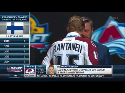 2015 NHL Draft: #10 Overall Pick – Mikko Rantanen – Colorado Avalanche