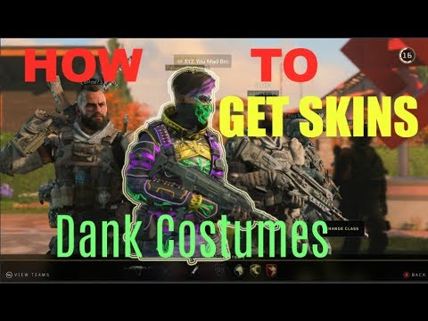 How To Get Costumes In Black Ops 4 /SKINS