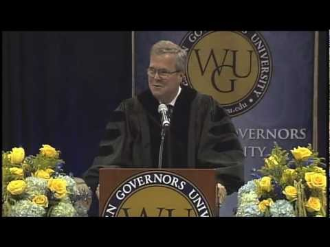Jeb Bush Addresses Online University Graduates - WGU Winter 2013 Commencement