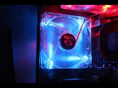 How To Install A LED Fan Into Your Computer EASY (Rosewill 80mm Blue)