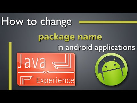 How to change package name of Android application