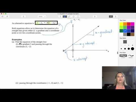Equation of a straight line (adv)