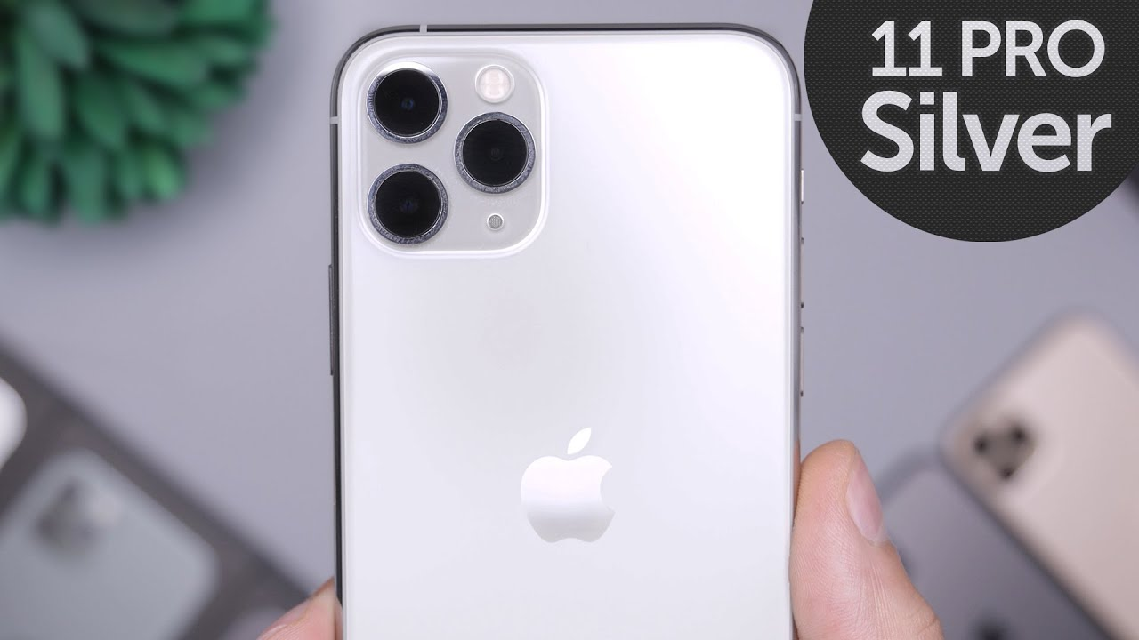 Silver Iphone 11 Pro Unboxing First Impressions Youtube