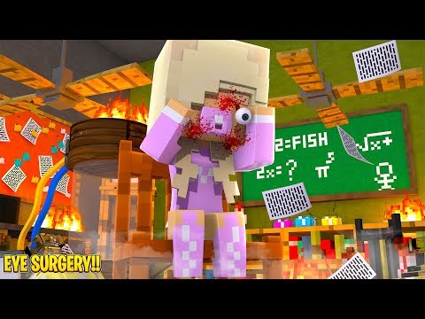 OUR BABY DAUGHTER'S EYE FALLS OUT FROM AN EXPLOSION!! Minecraft Adventure