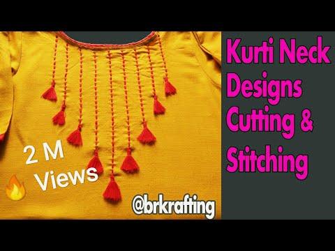 KURTI BLOUSE AND DRESS NECK DESIGNS कुर्ती के डिज़ाइनर गला कैसे बनाये